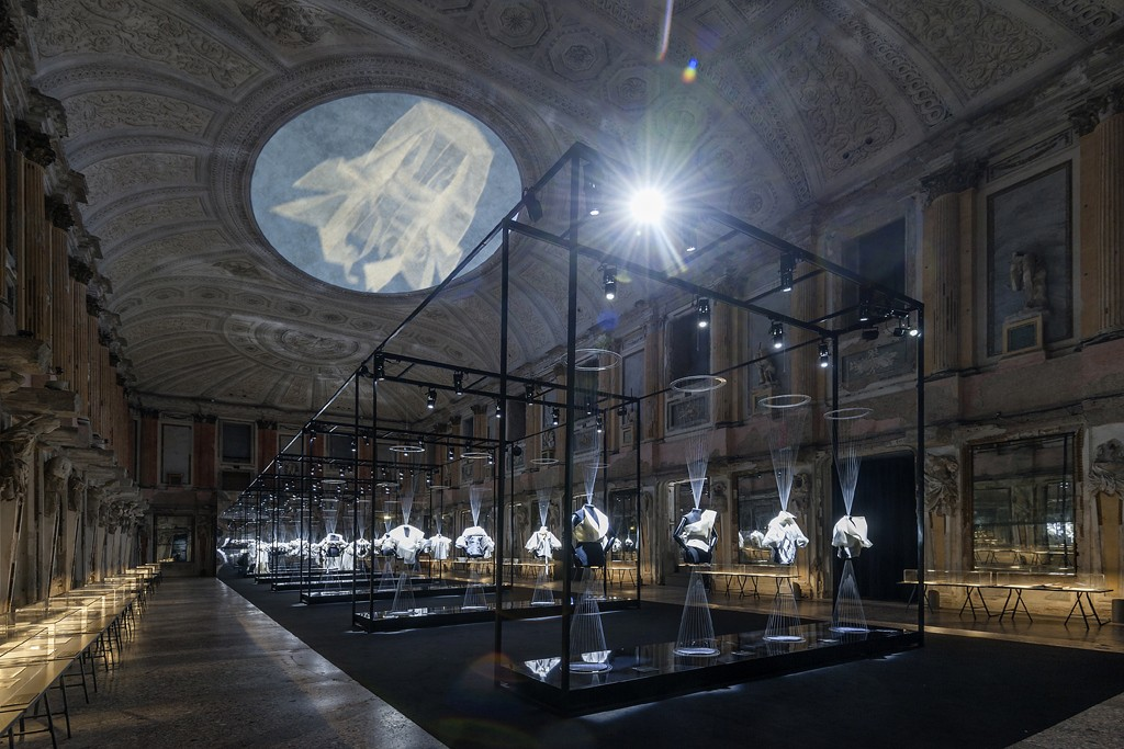 Inside the Gianfranco Ferré exhibit in Milan.