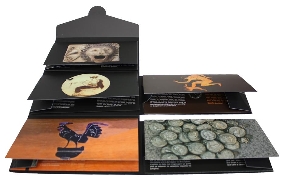 Ειδική κασετίνα του Μουσείου που περιλαμβάνει πέντε αναμνηστικά μετάλλια