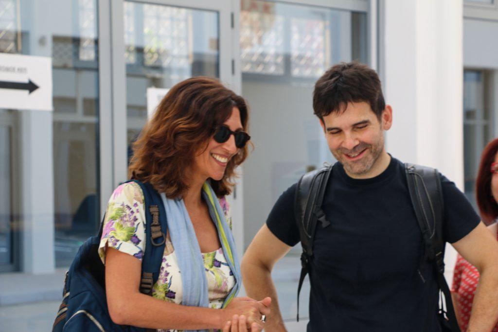 Η Αμαλία Ζέπου και ο Μενέλαος Καραμαγγιώλης στην Αγορά Κυψέλης