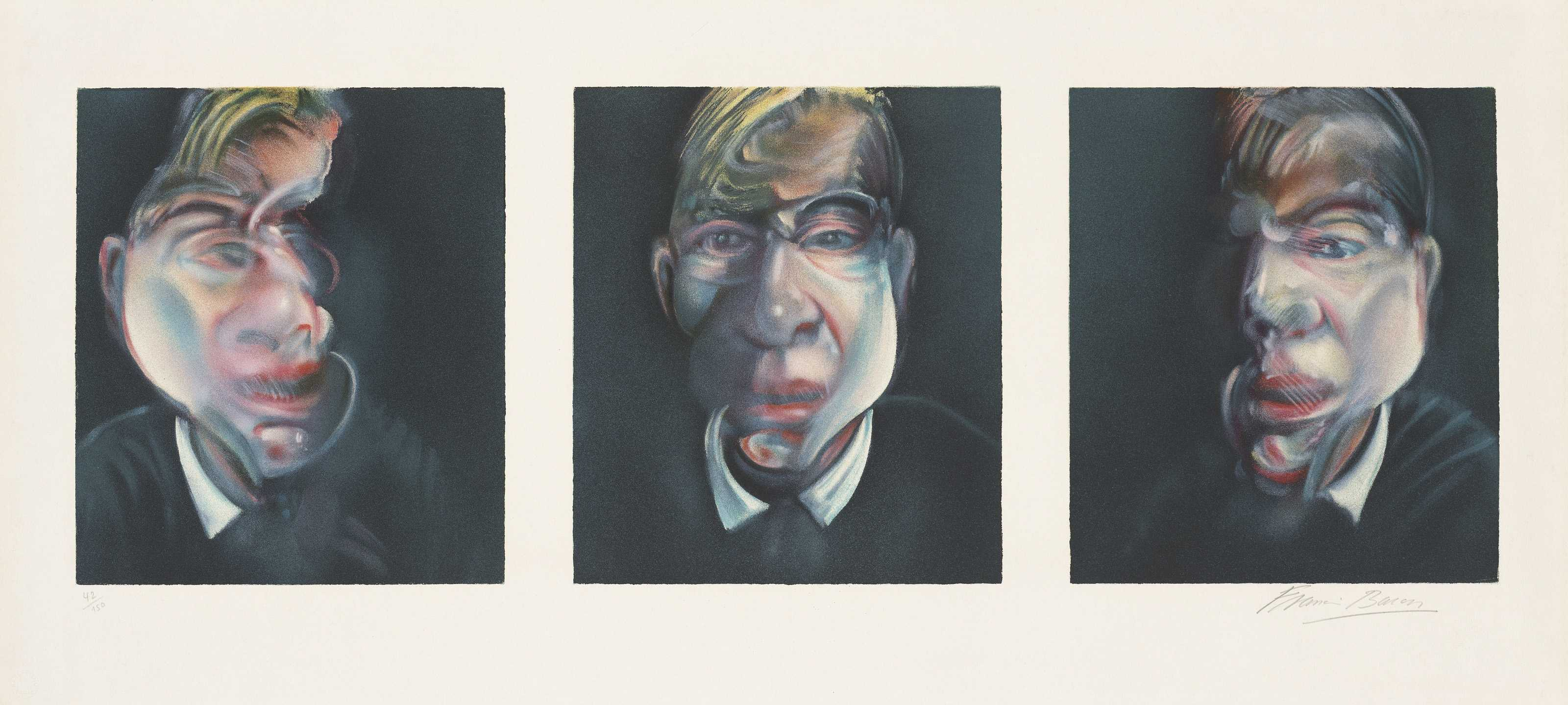 Francis Bacon, Three Studies for a Self-Portrait, 1981