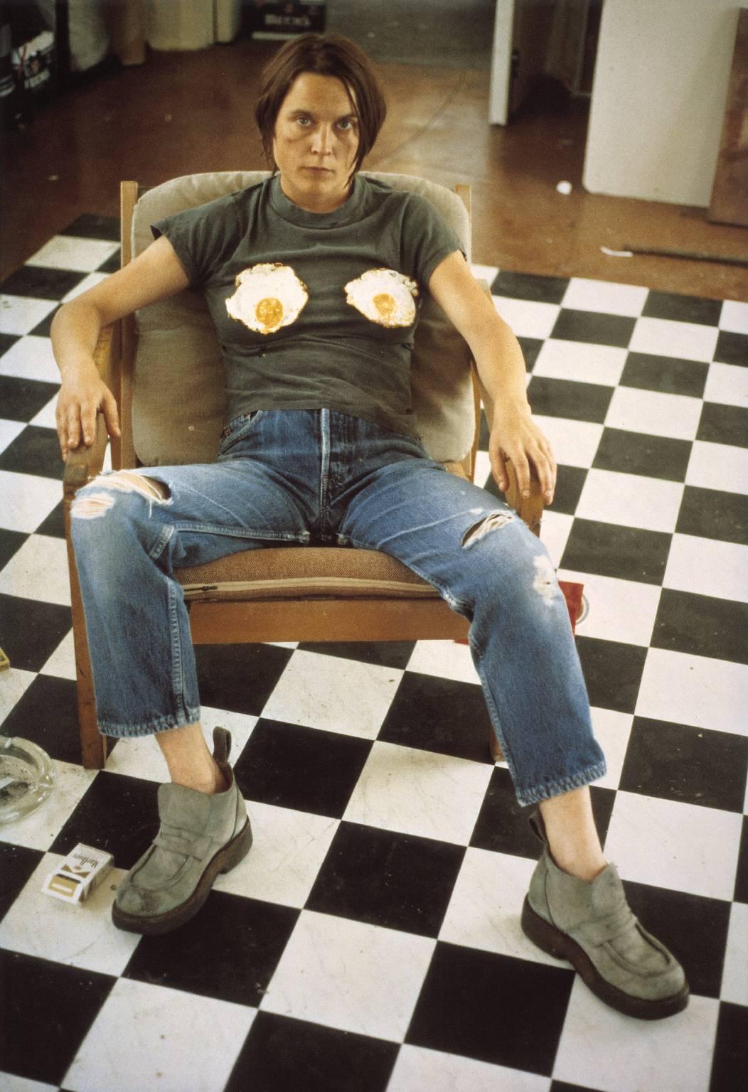 Sarah Lucas (Self Portrait with Fried Eggs), 1996