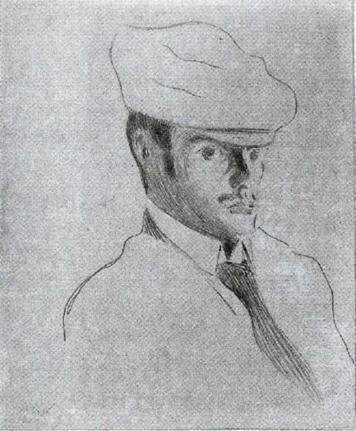 Paul Klee (Self-Portrait with the White Cap), 1899