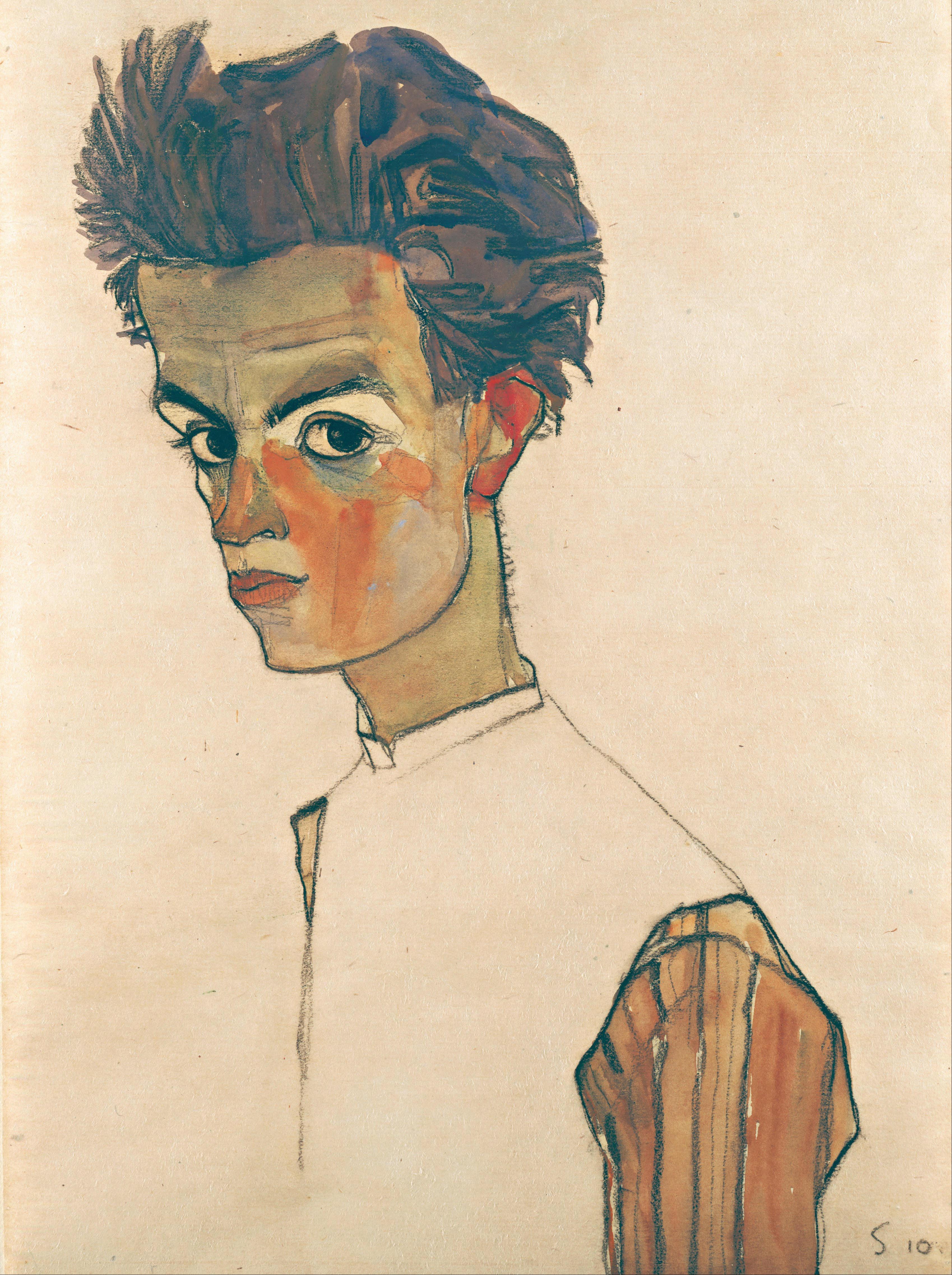 Egon Schiele self portrait 1910