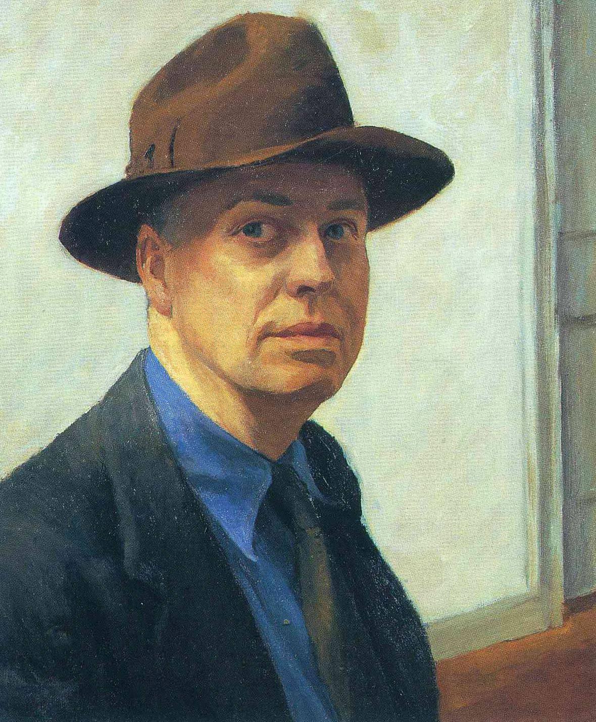 Edward Hopper, Self Portrait, 1925-1930