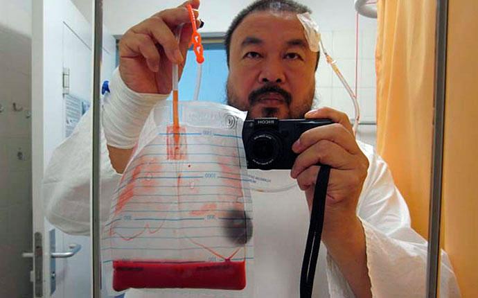 Ai Weiwei, self portrait (Never Sorry) 2011