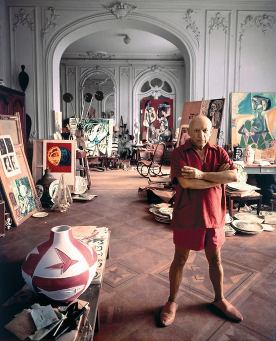 Ο Πικάσο στο στούντιό του στο Βαλορί, 1956