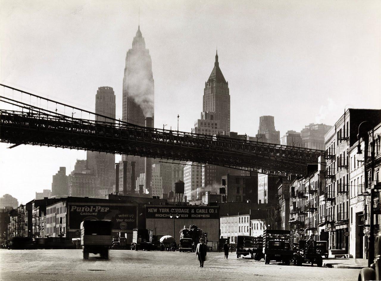 Μπερενίς Άμποτ, Waterfront, South Street, Manhattan, 1935, NYPL