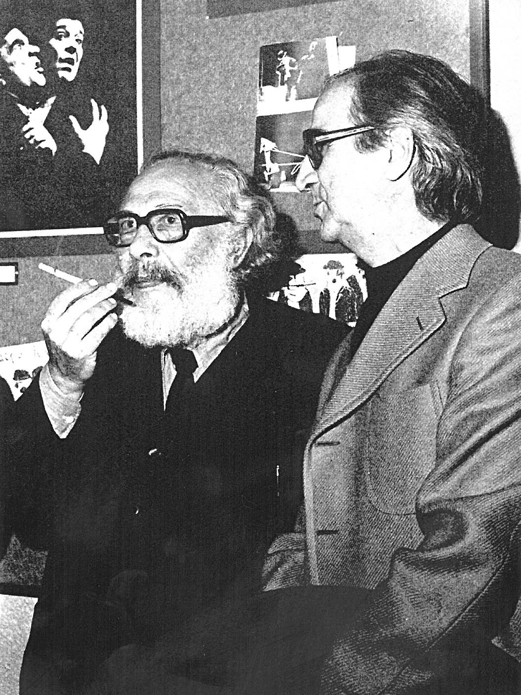 Ο Κάρολος Κουν με τον Γιώργο Σεβαστίκογλου