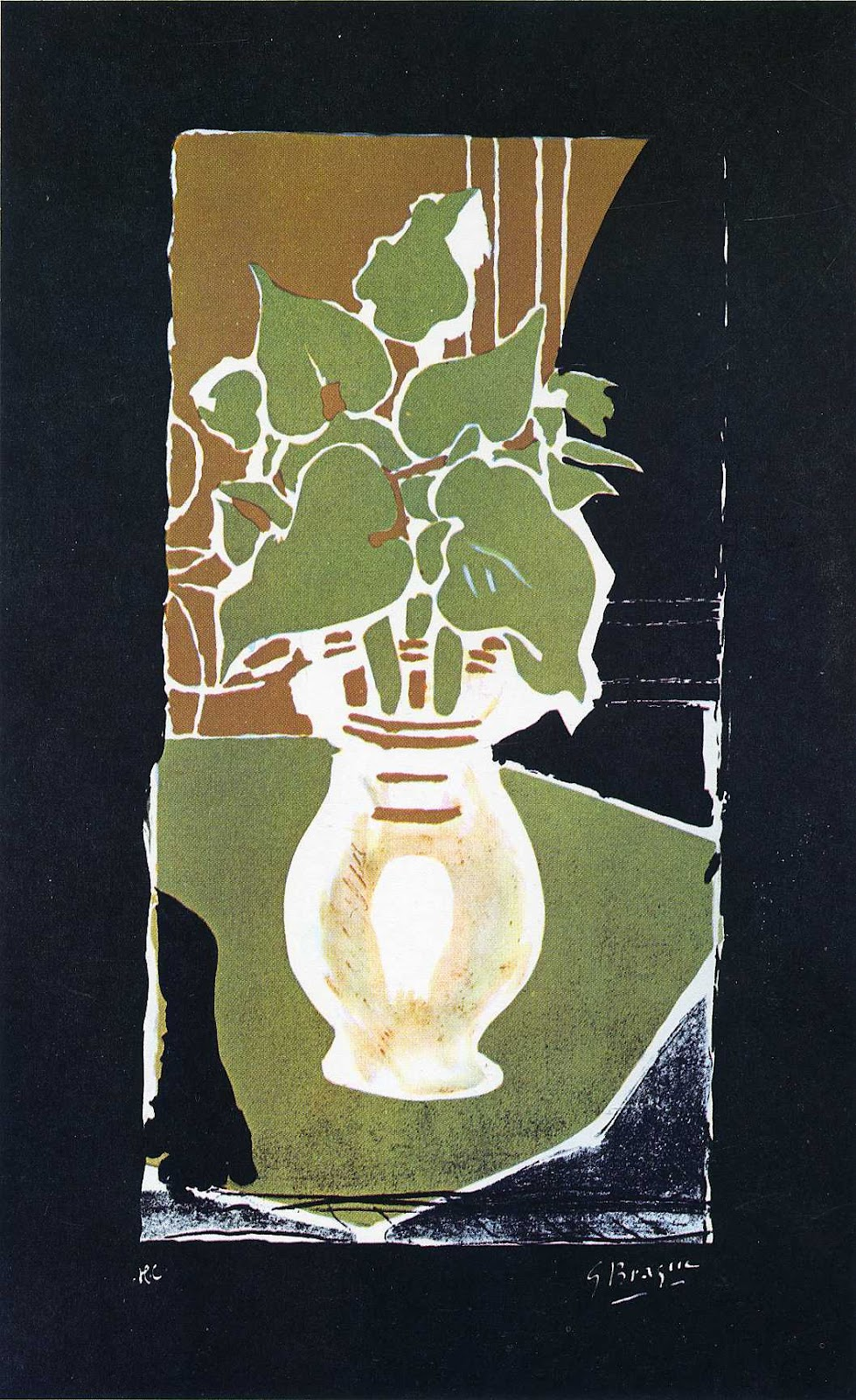 Leaves In Color Of Light, Georges Braque, 1953