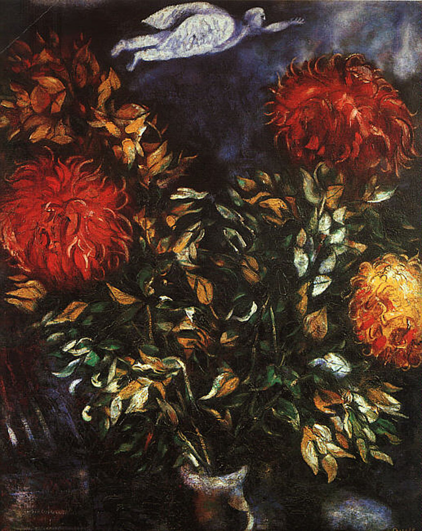 Chrysanthemums - Marc Chagall