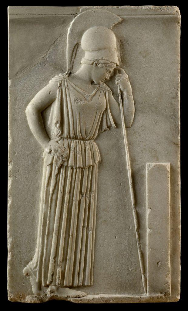 Ανάγλυφο «Σκεπτομένης Αθηνάς», περ. 460 π.Χ. Μουσείο Ακρόπολης