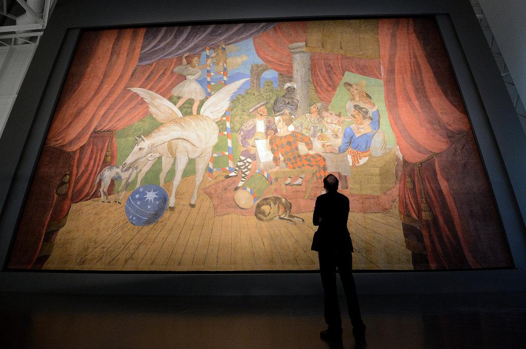 Parade, η ζωγραφισμένη από τον Πικάσο αυλαία στο Μουσείο Πομπιντού