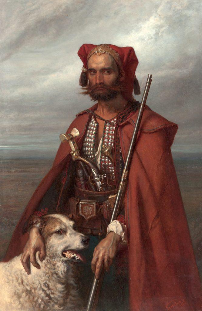 Louis Gallait (1810-1887), Κροάτης φρουρός στο φυλάκιο του Άγκραμ, 1854, λάδι σε μουσαμά