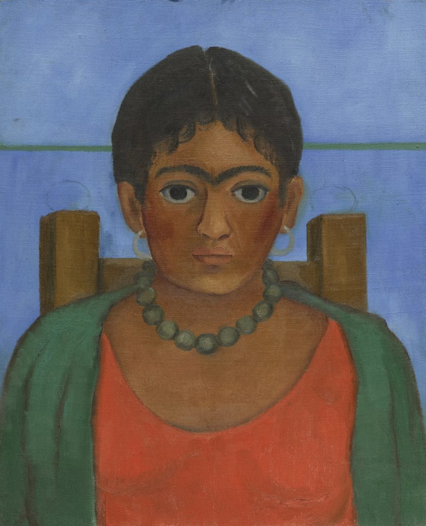 Frida Kahlo, Niña con collar (1929). Courtesy of Sotheby's.