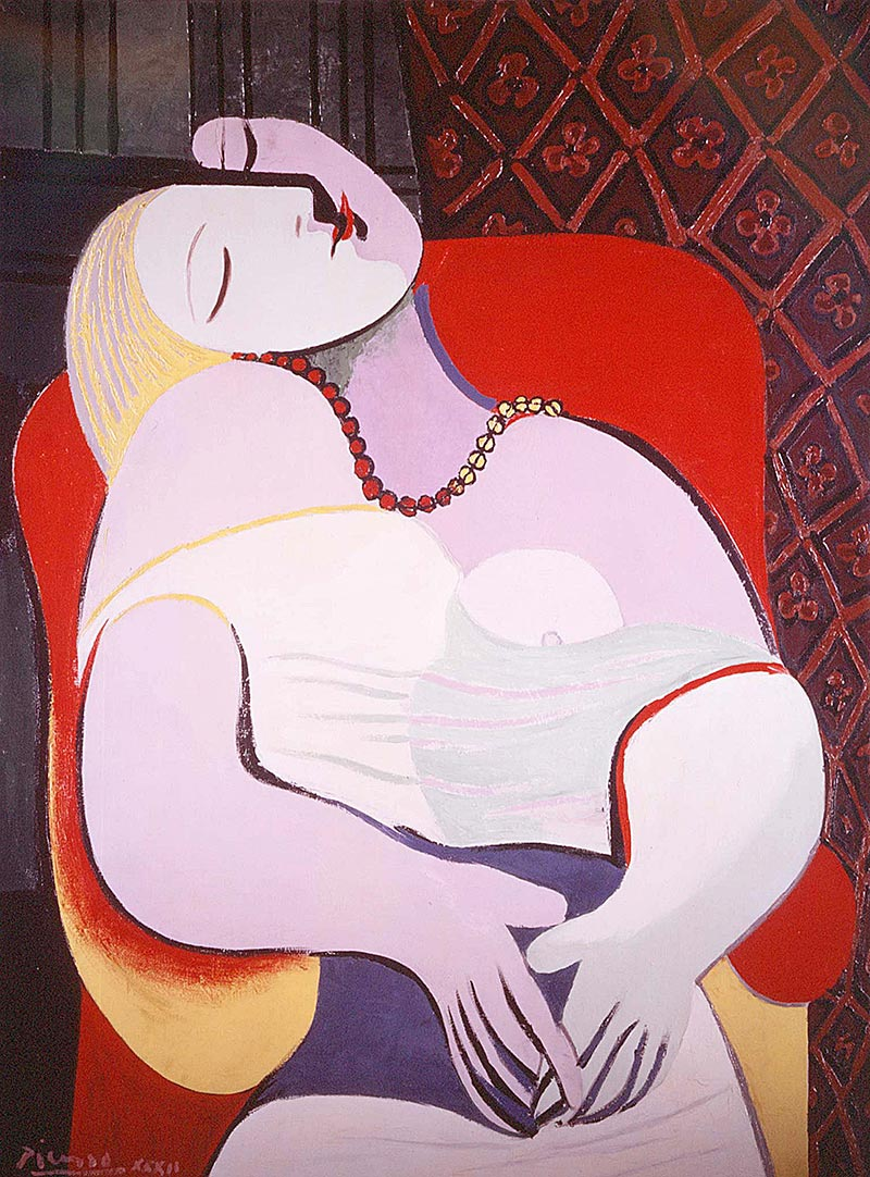 Le Réve, 1932. Στη λίστα με τους δέκα πιο ακριβούς πίνακες στον κόσμο. Πουλήθηκε για 158.5εκ. δολάρια