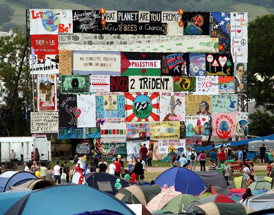 Glastonbury Festival banners, 2014. © Jason Bryant
