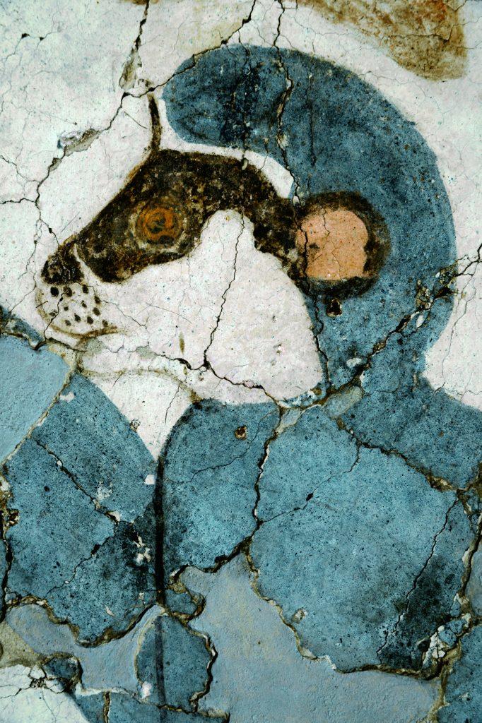 Λεπτομέρεια από την τοιχογραφία των πιθήκων