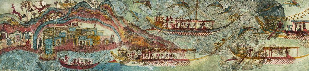 Λεπτομέρειες από την αριστερή πλευρά της τοιχογραφίας