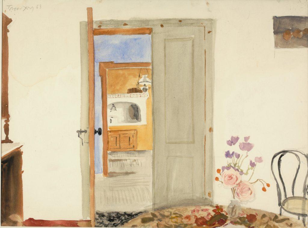 Εσωτερικό του σπιτιού του Teriade στη Μυτιλήνη, 1963