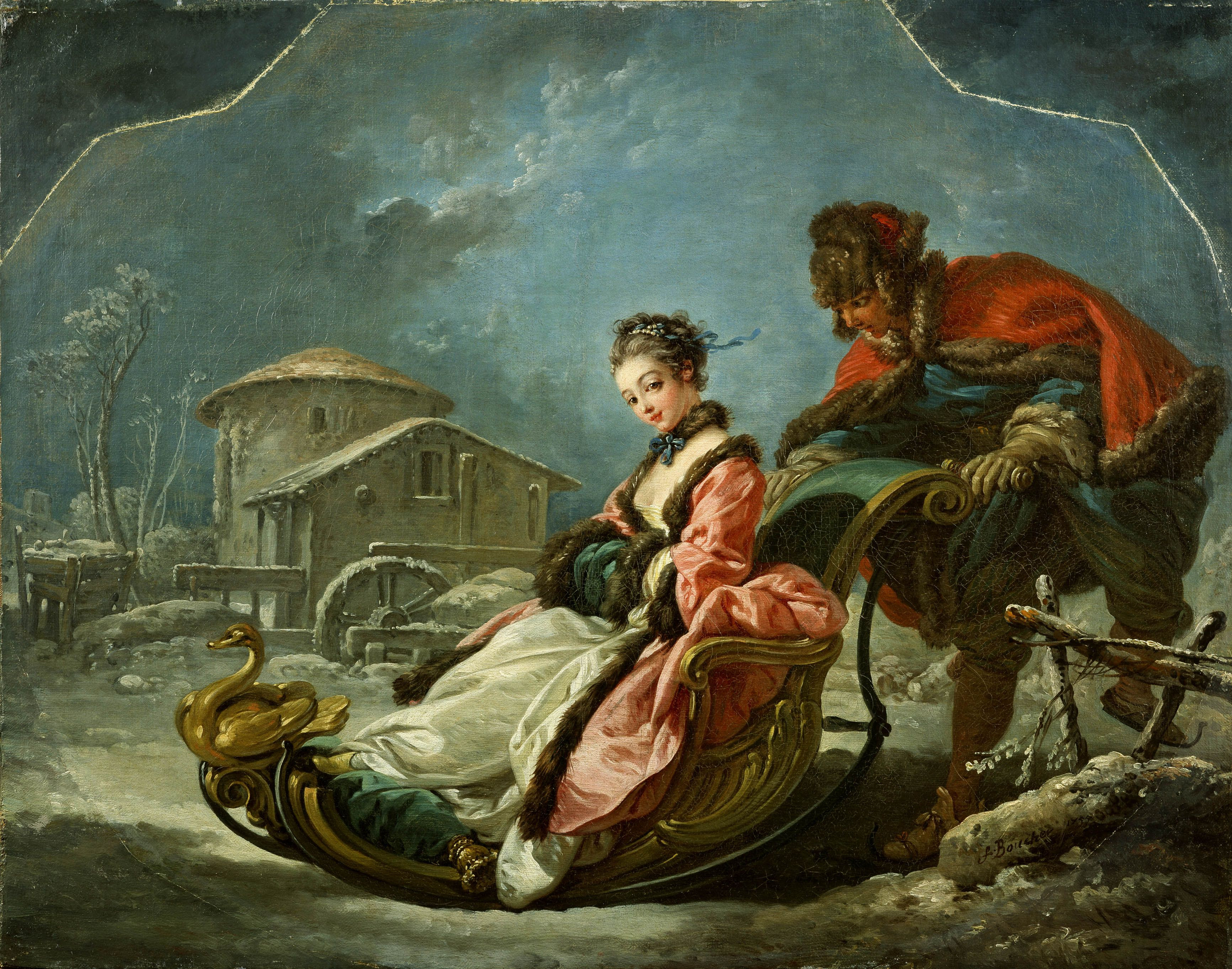Four Seasons: Winter by Francois Boucher (1755)