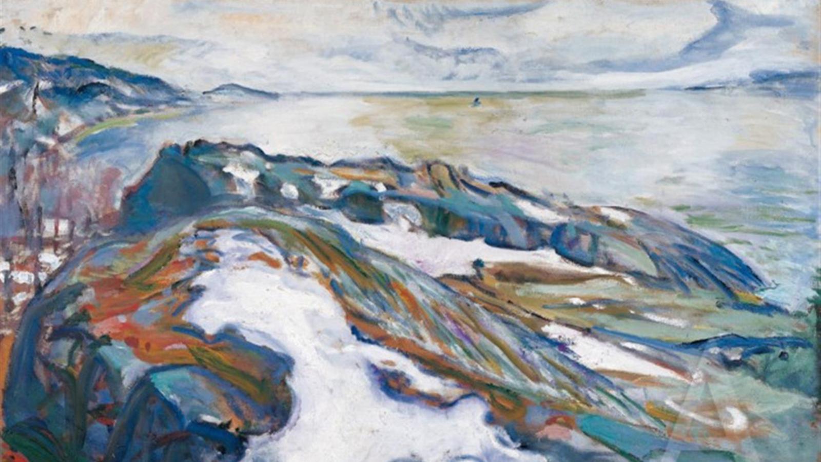Winter Landscape, Edvard Munch (1915)