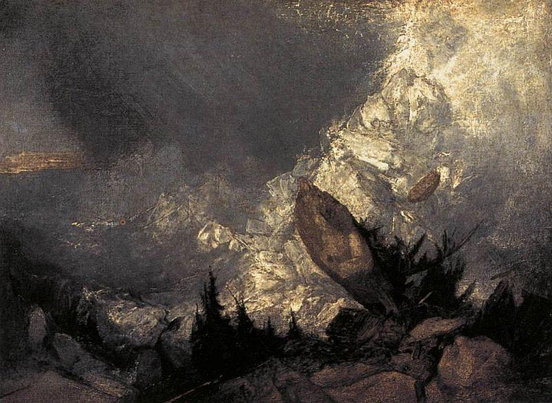 Πτώση χιονοστοιβάδας στο Γκριζόν, 1810