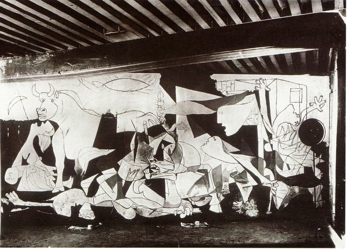 H Γκουέρνικα σε δεύτερο στάδιο φωτογραφημένη από τη Ντόρα Μάαρ