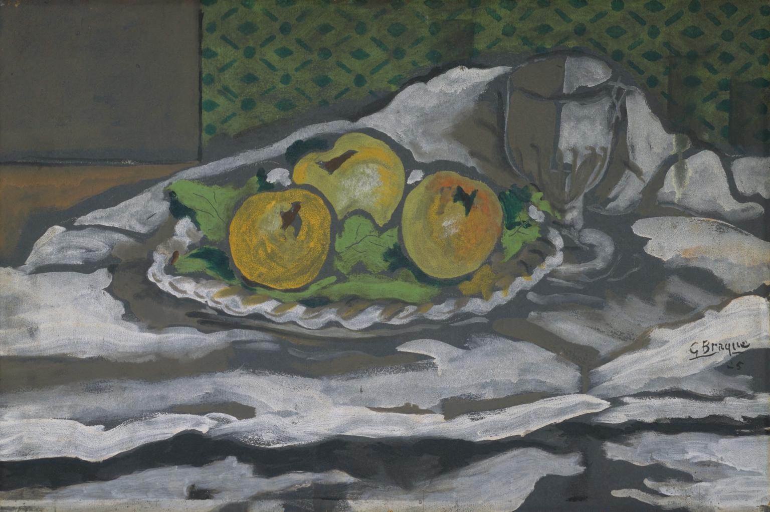 Glass and Plate of Apples, Georges Braque, 1956