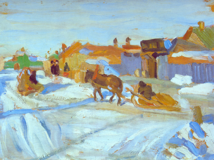 The Winter Sunny Day, Konstantin Yuon, 1916