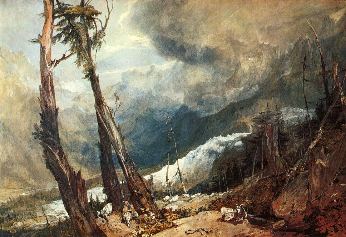 Glacier And Source Of The Arveron, Going Up To The Mer De Glace, 1803