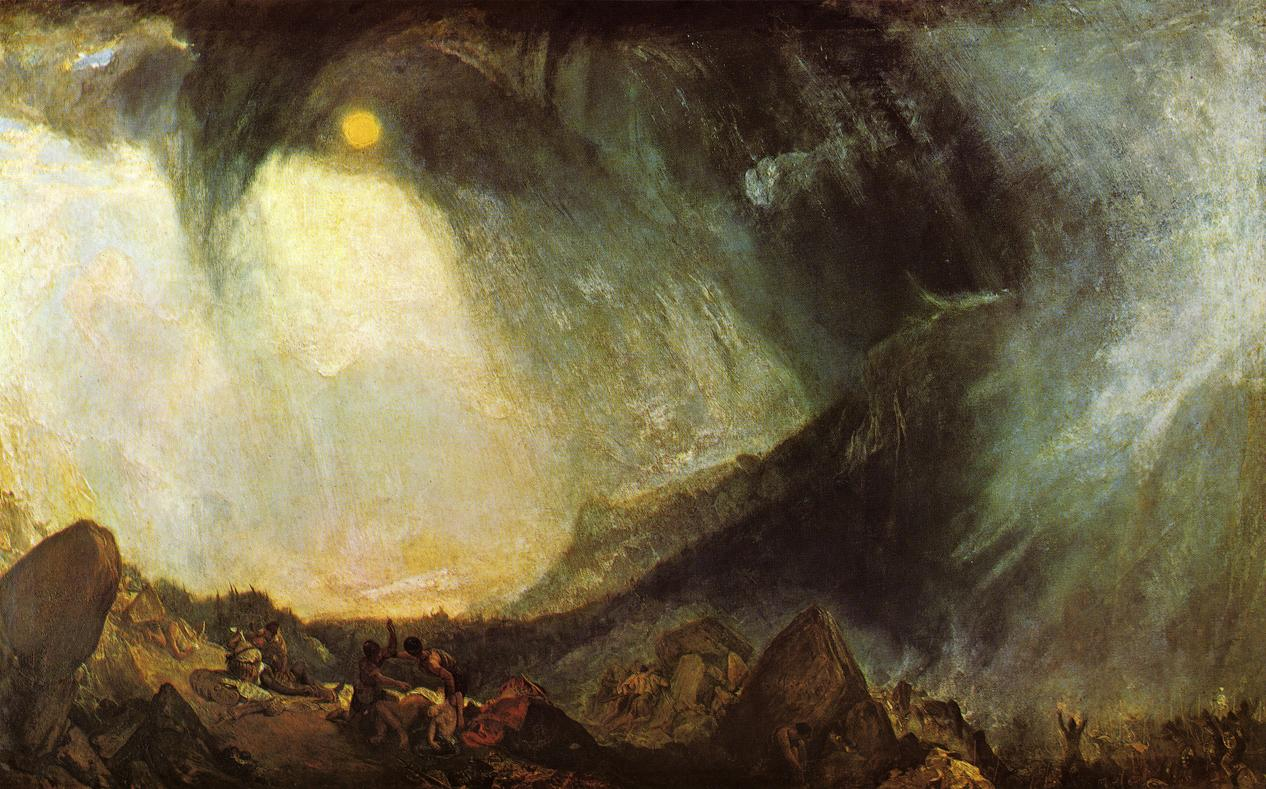 Snow Storm, Hannibal And His Army Crossing The Alps, 1812