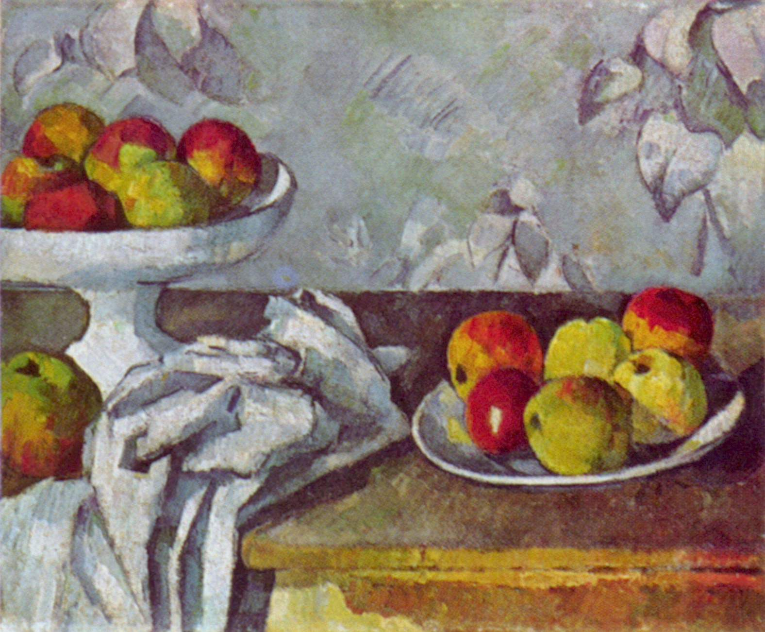 Still Life With Apples And Fruit Bowl, Paul Cezanne, 1882