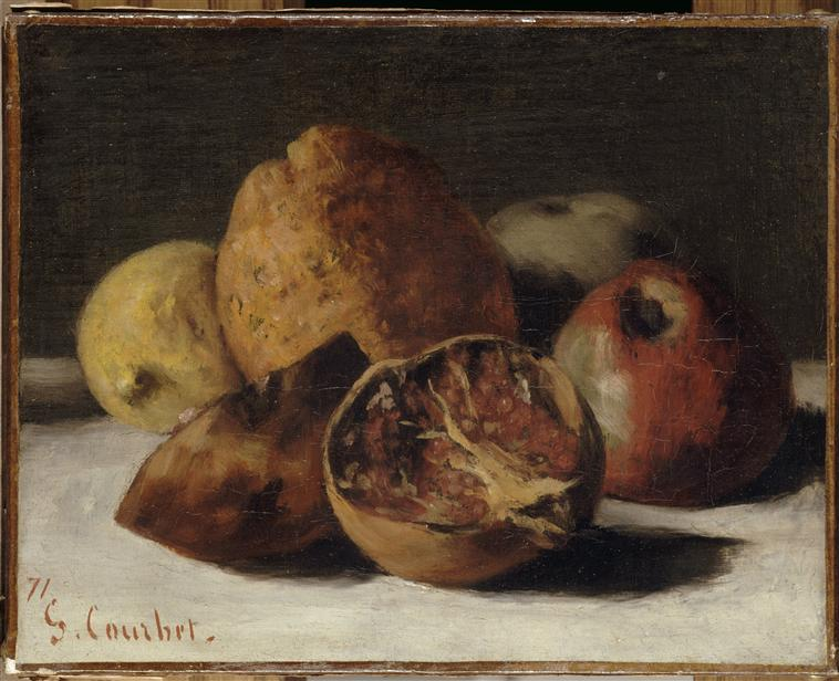 Still Life With Apples And Pomegranates, Gustave Courbet, 1871