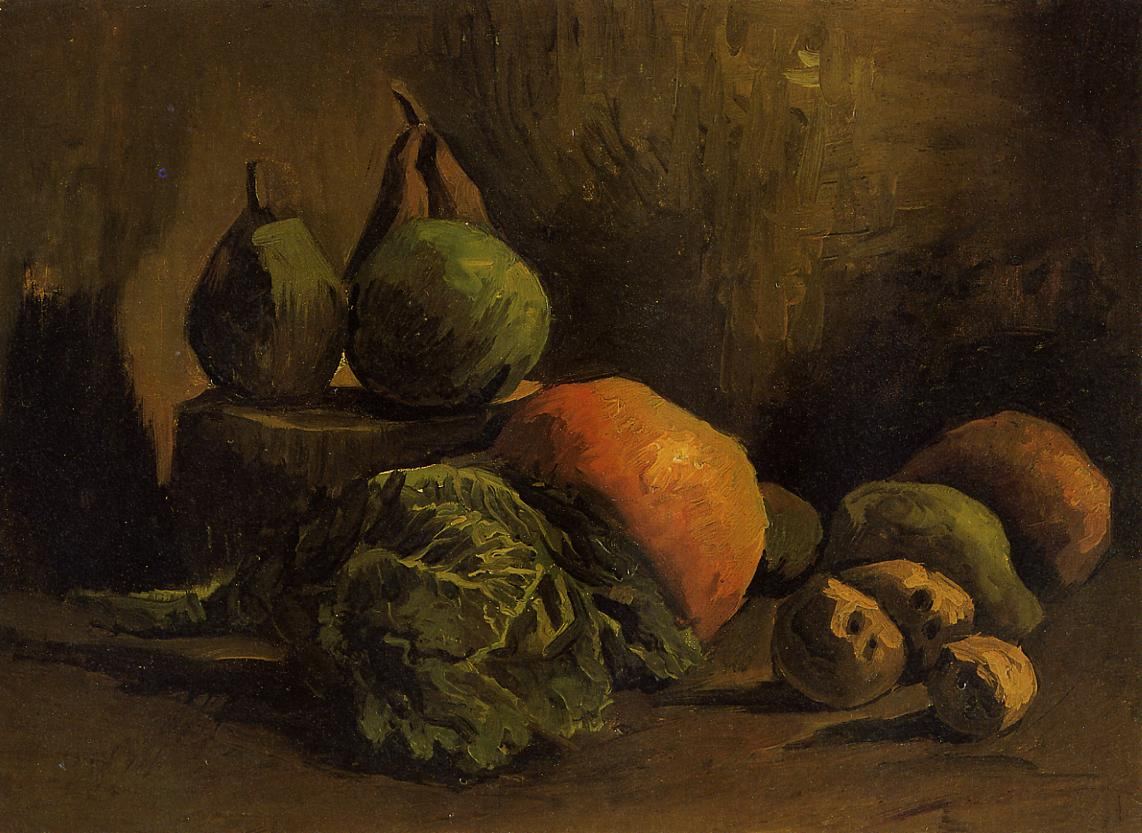 Still Life With Vegetables And Fruit, Vincent van Gogh, 1885