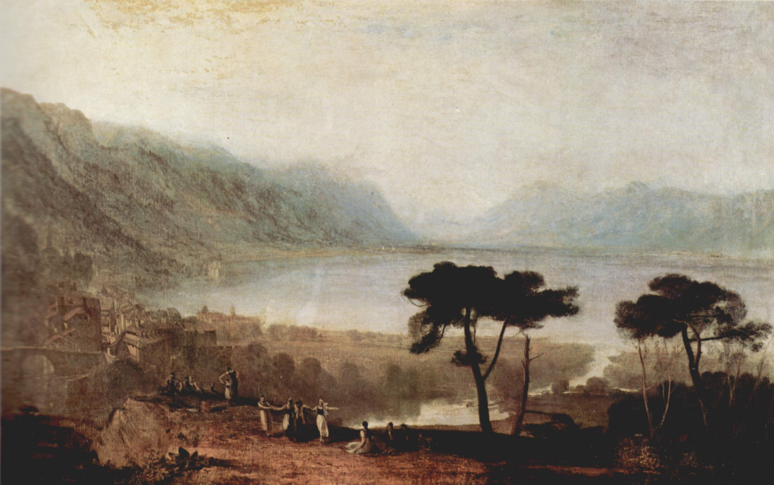 The Lake Geneva Seen From Montreux, 1810