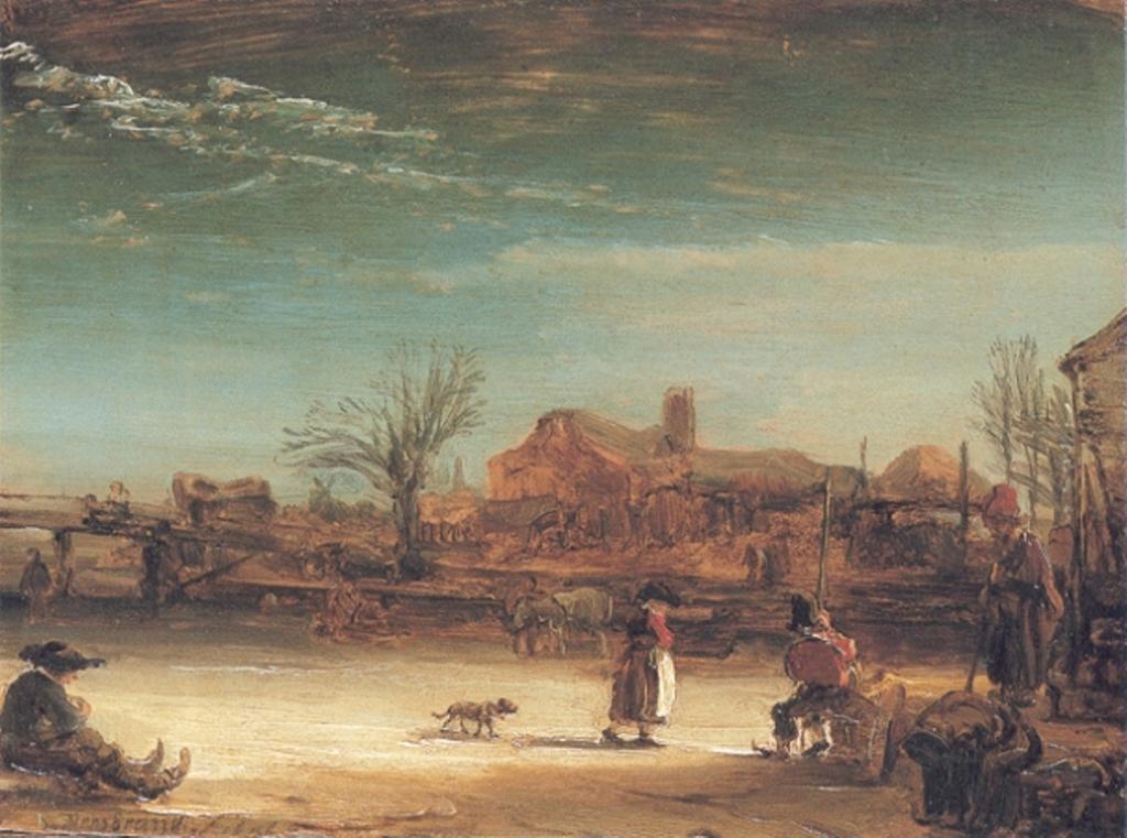 Winter Landscape, Rembrandt, 1646