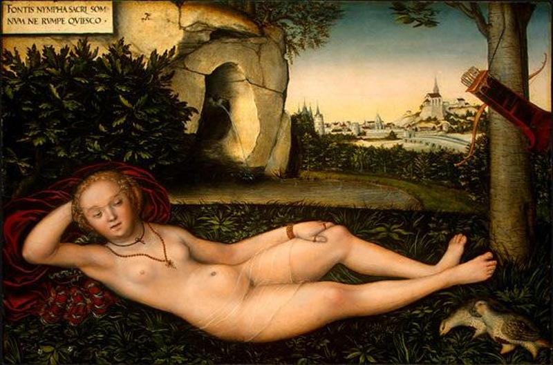 The Nymph Of The Spring, Lucas Cranach the Elder, 1540