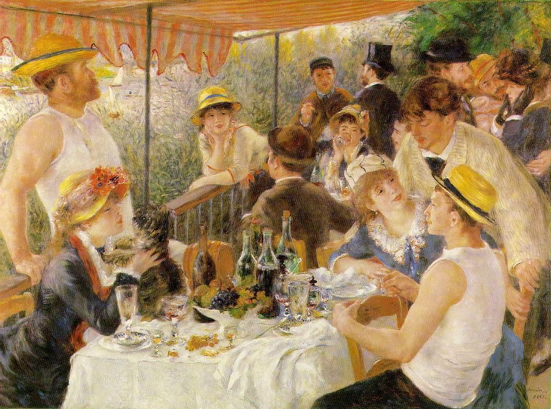 Γεύμα στο πάρτυ του πλοίου