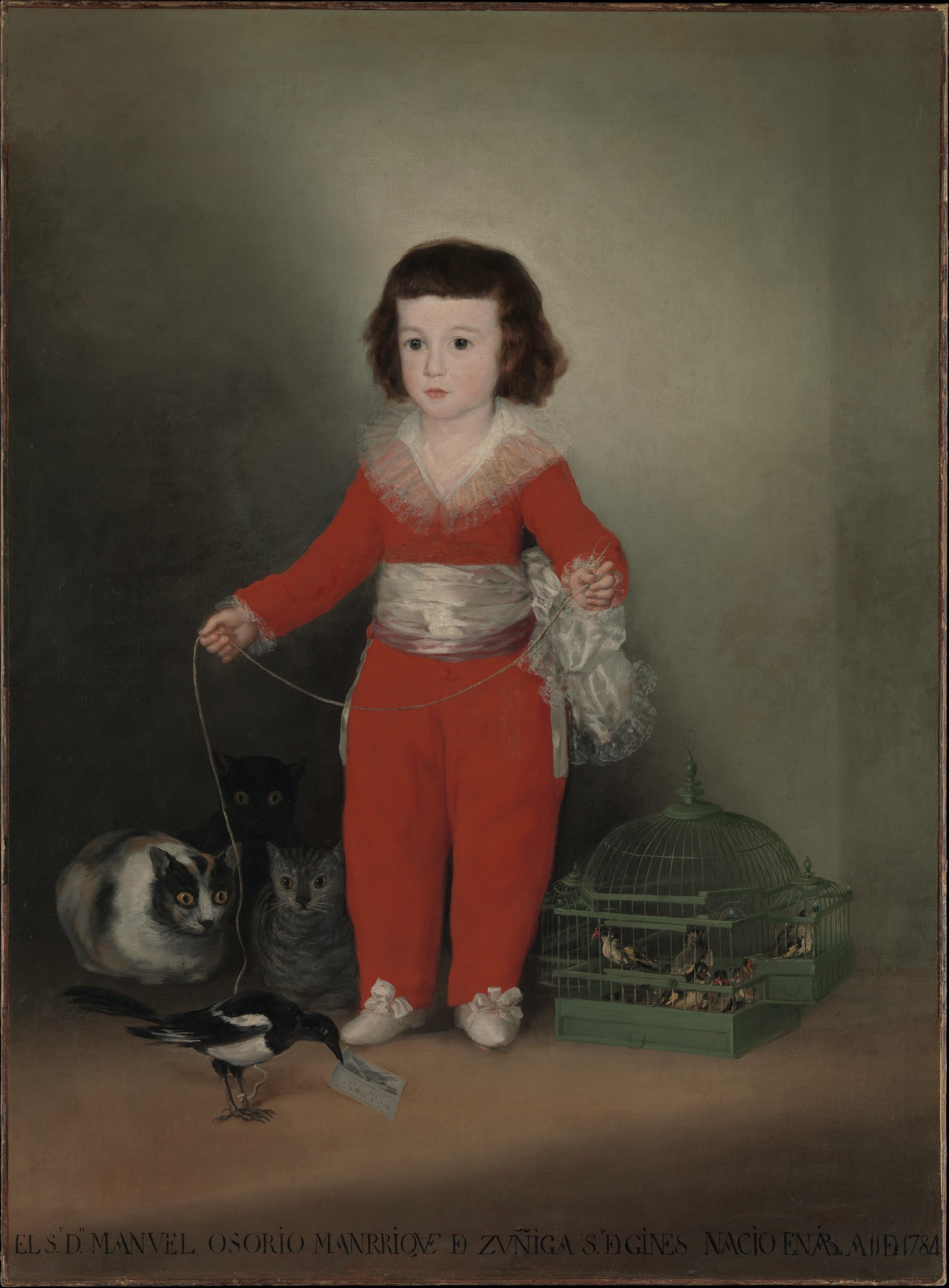 Manuel Osorio Manrique de Zuñiga (1784–1792) Goya (Francisco de Goya y Lucientes) (Spanish, Fuendetodos 1746–1828 Bordeaux)