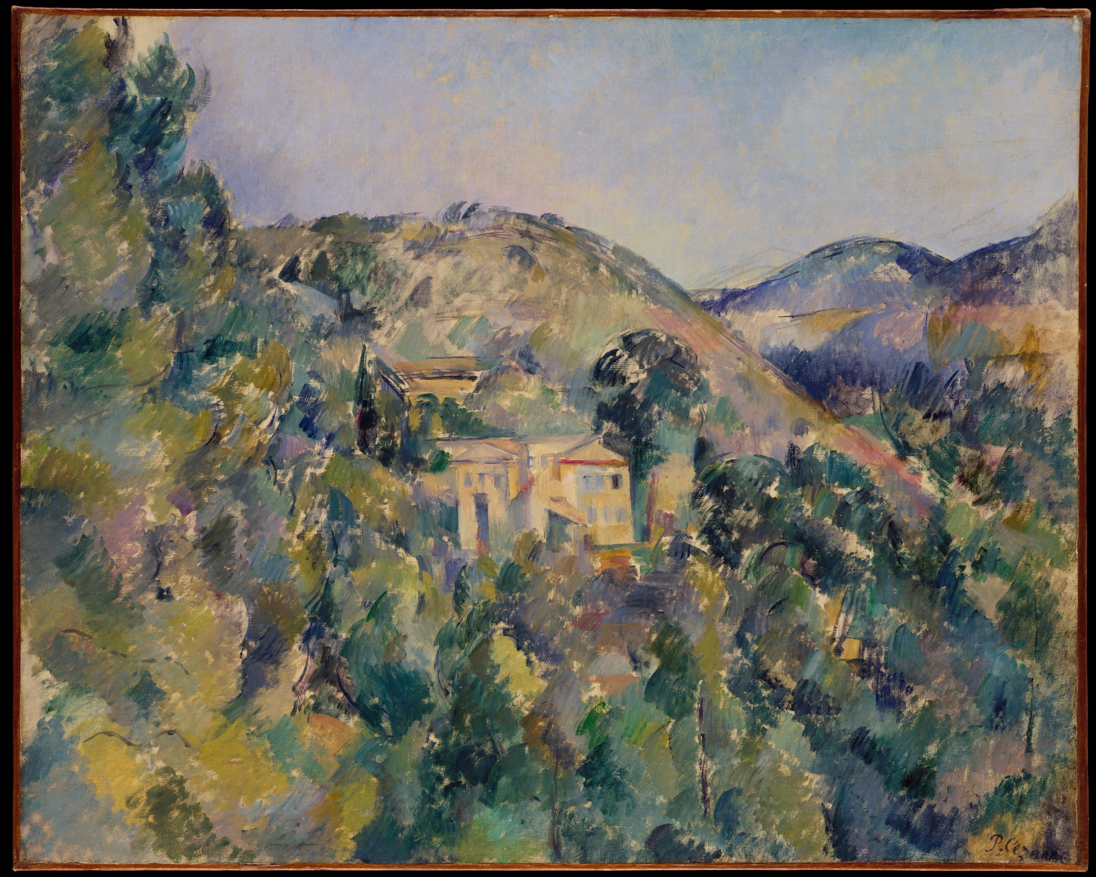 View of the Domaine Saint-Joseph Paul Cézanne (French, Aix-en-Provence 1839–1906 Aix-en-Provence)