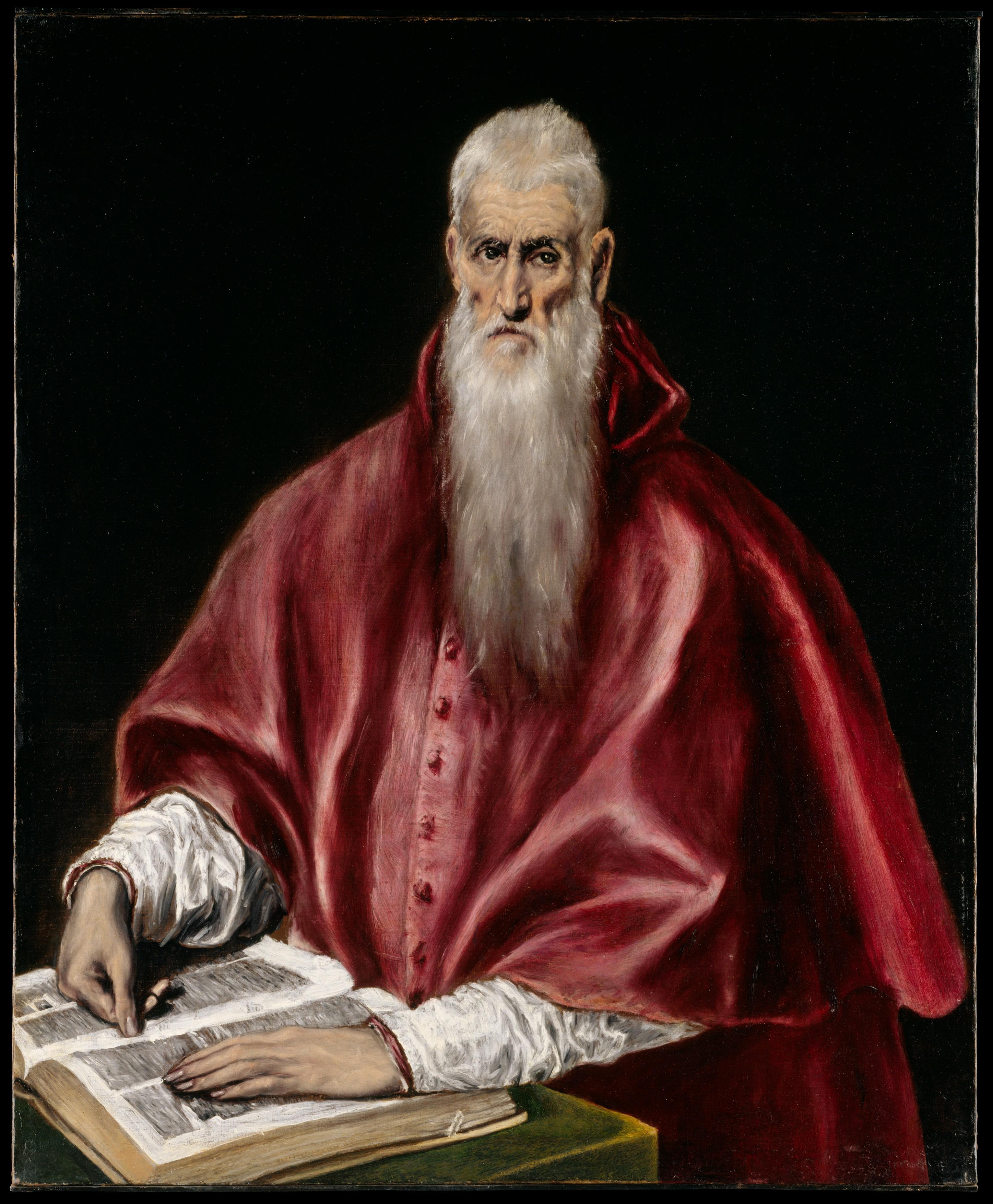 Saint Jerome as Scholar El Greco (Domenikos Theotokopoulos) (Greek, Iráklion (Candia) 1540/41–1614 Toledo)