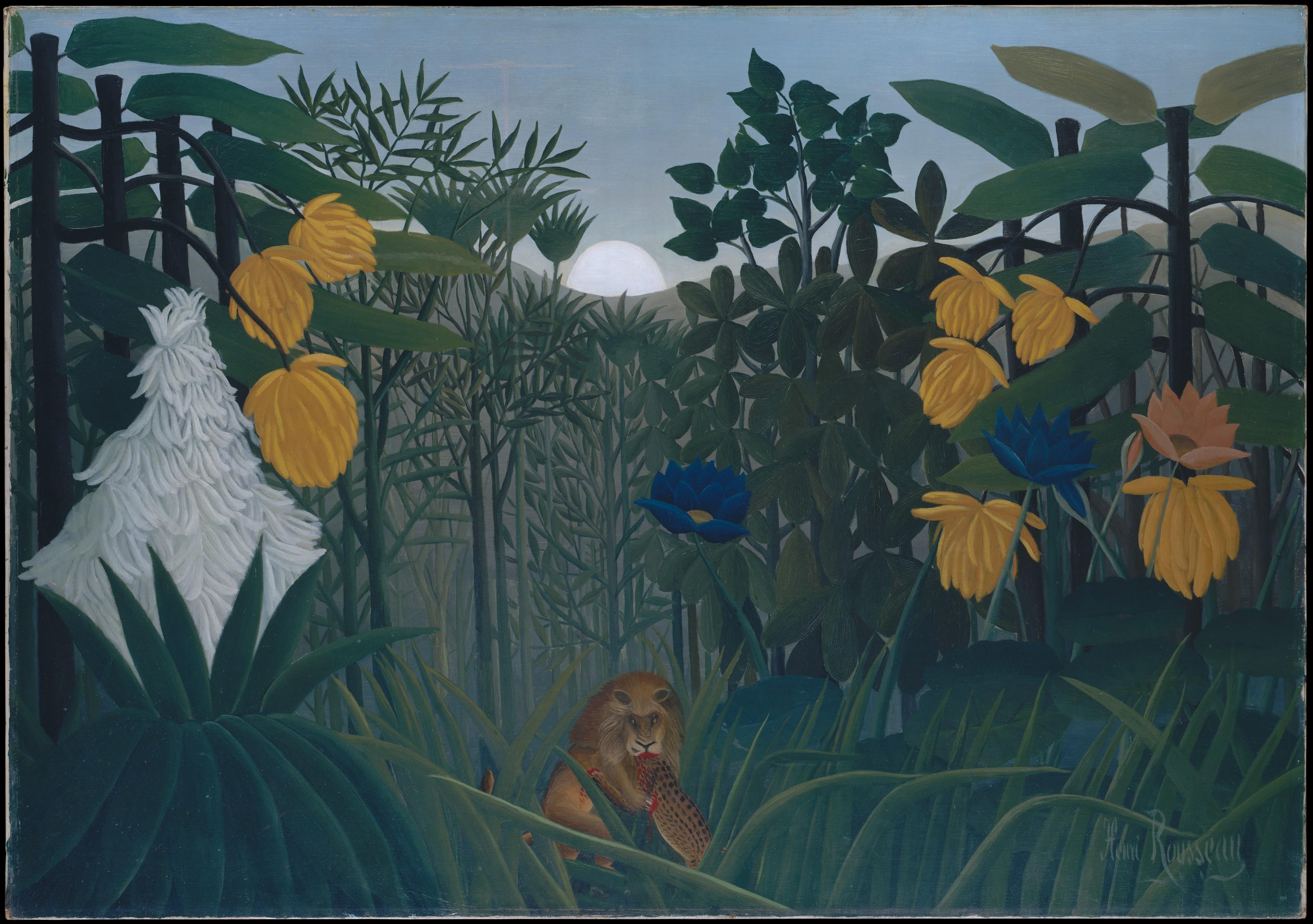 The Repast of the Lion, Henri Rousseau (le Douanier) (French, Laval 1844–1910 Paris)