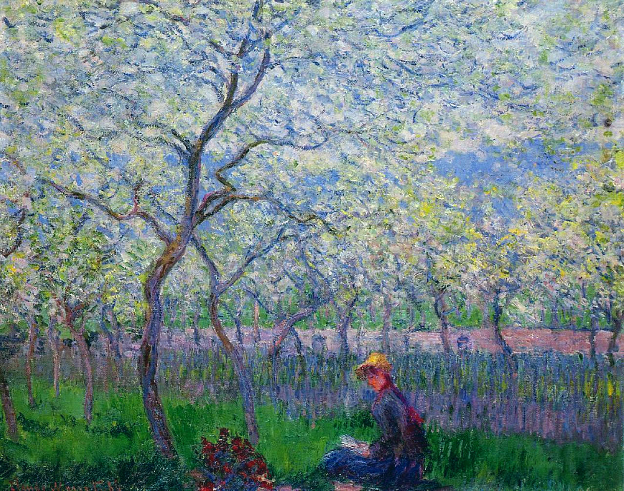 An Orchard In Spring, Claude Monet, 1886