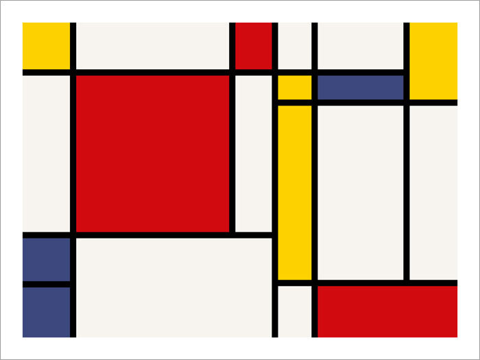 Piet Mondrian, 1921, Composition with Red, Green and Blue