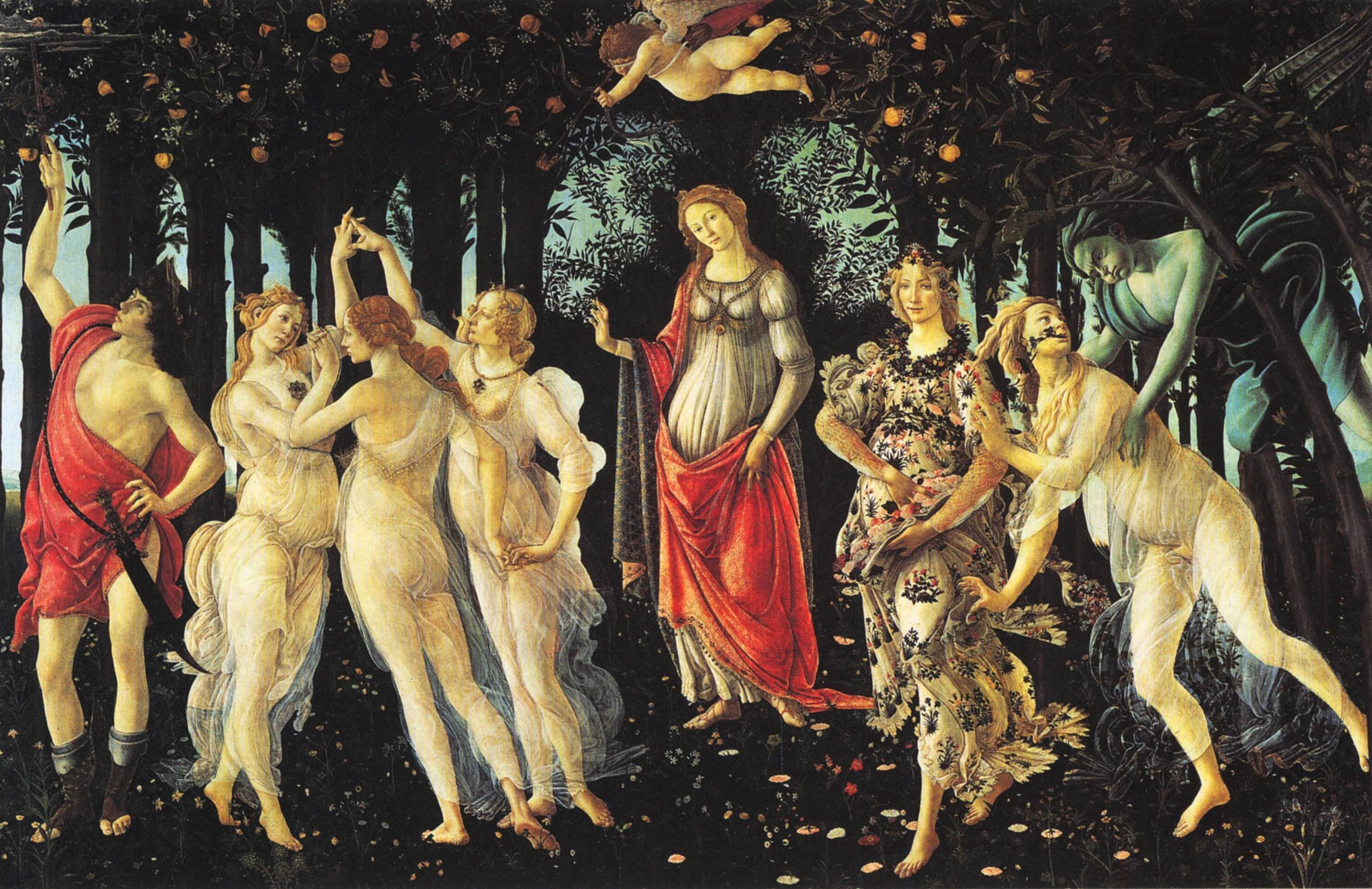 Primavera, Sandro Botticelli, 1478