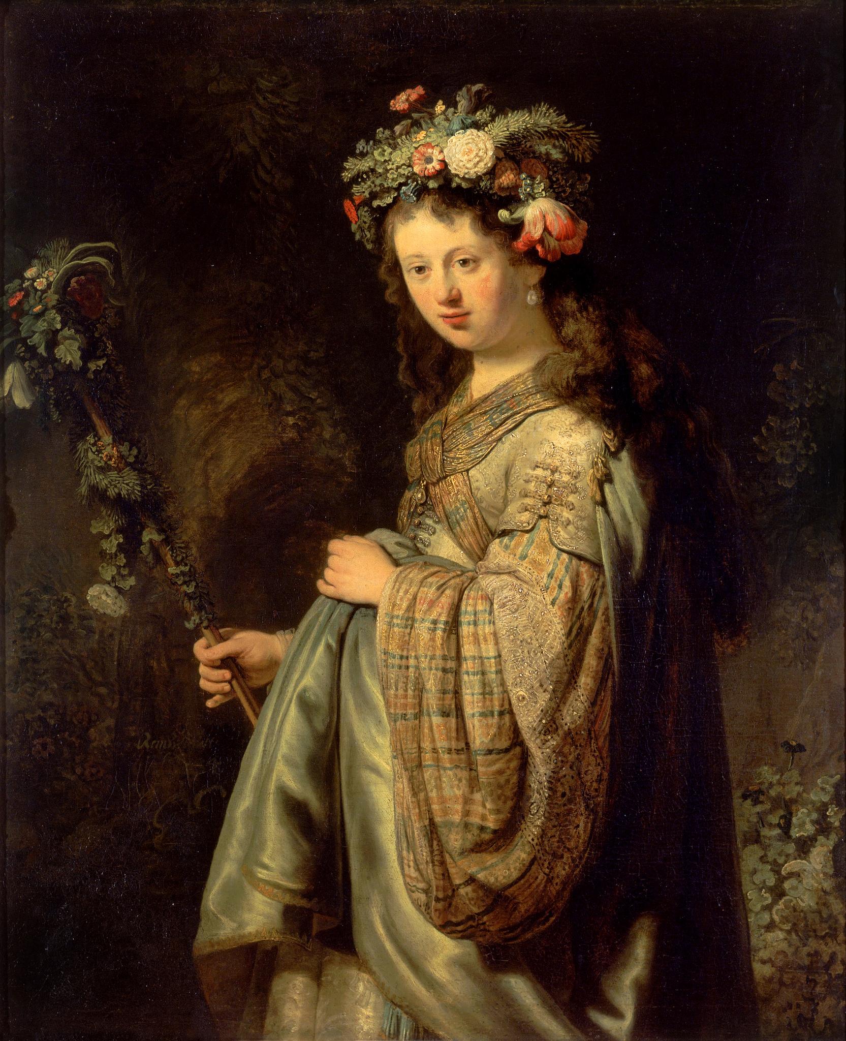 Flora, Rembrandt, 1634