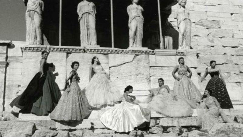 Tα μοντέλα του Ντιορ στην Ακρόπολη, 1951