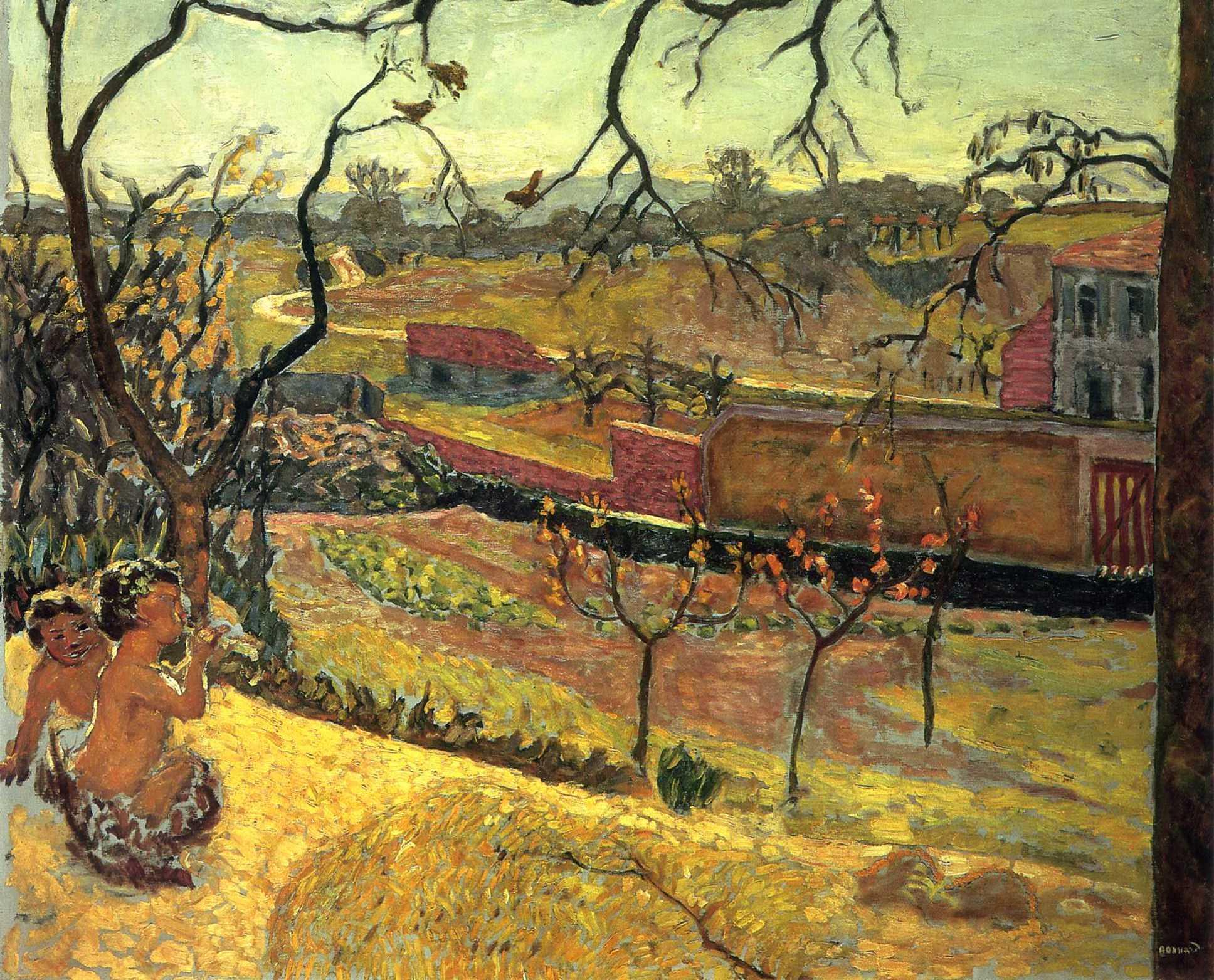 Early Spring (Little Fauns), Pierre Bonnard · 1909