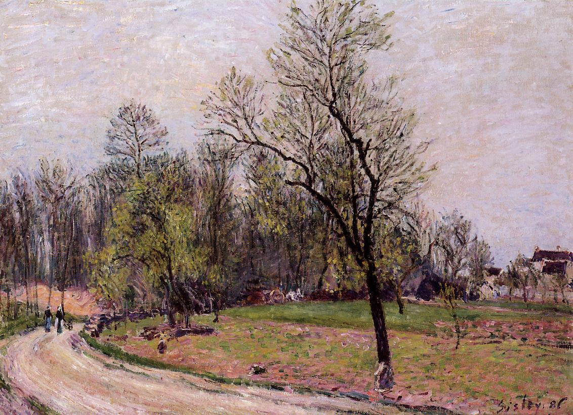 Edge Of The Forest In Spring, Evening, Alfred Sisley, 1886