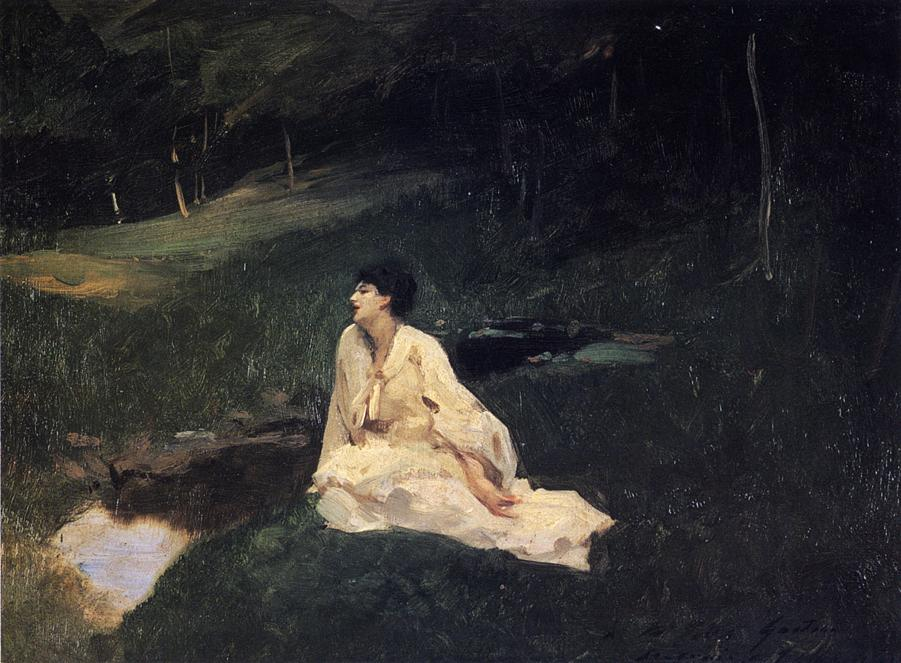 Judith Gautier (Also Known As By The River Or Resting By A Spring), John Singer Sargent, 1883